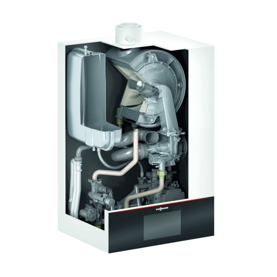 Condensing gas boiler VITODENS 200-W B2HE with boiler connection 25kW