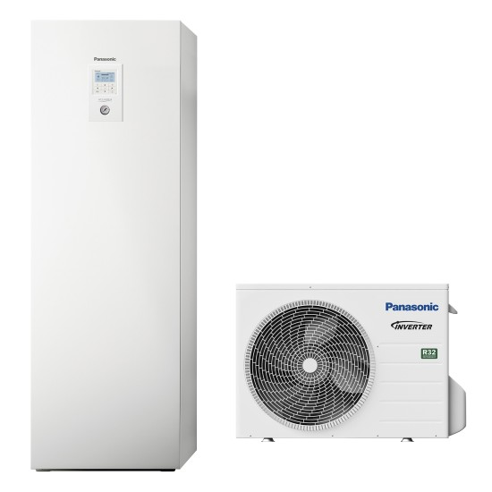 """Panasonic Aquarea air-water heat pump """"all-in-one"""" with boiler, R32, 3kW"""
