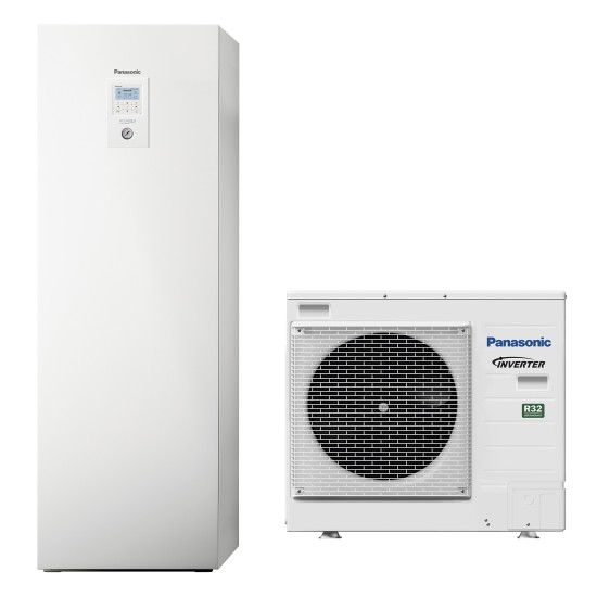 """Panasonic Aquarea air-water heat pump """"all-in-one"""" with boiler, R32, 9kW"""