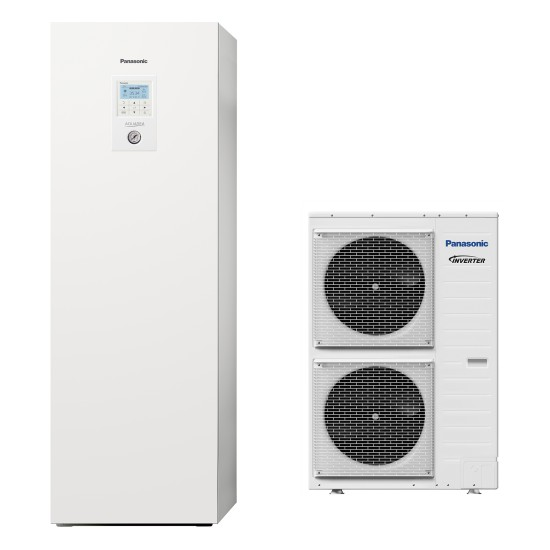"""Panasonic Aquarea air-water heat pump """"all-in-one"""" with boiler, three-phase, 12kW"""