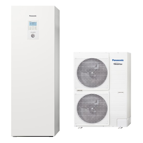 """Panasonic Aquarea air-water heat pump """"all-in-one"""" with boiler, three-phase, T-CAP, 12kW"""