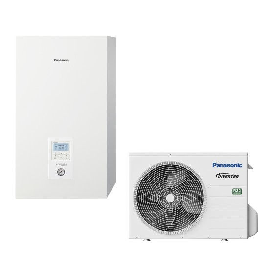 """Panasonic Aquarea air-water heat pump """"Bi-Bloc"""" without boiler, R32, 5kW"""