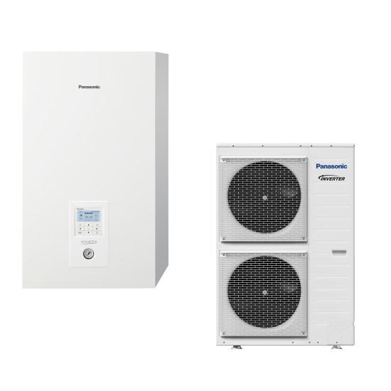 "Panasonic Aquarea air-water heat pump ""Bi-Bloc"" without boiler, three-phase, 9kW"