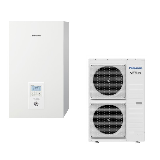"Panasonic Aquarea air-water heat pump ""Bi-Bloc"" without boiler, three-phase, 16kW"
