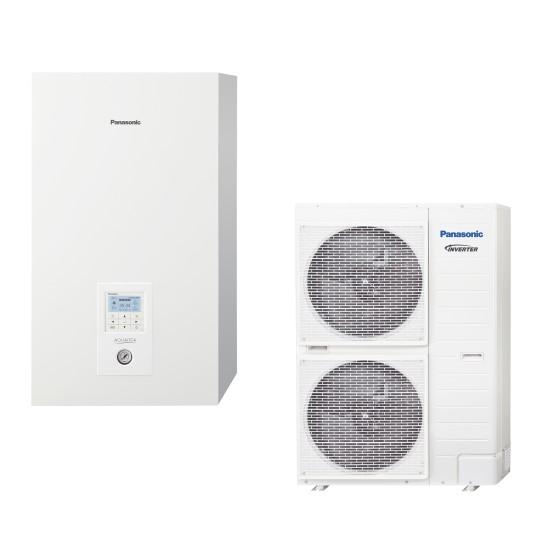 "Panasonic Aquarea air-water heat pump ""Bi-Bloc"" without boiler, three-phase, T-CAP, 9kW"