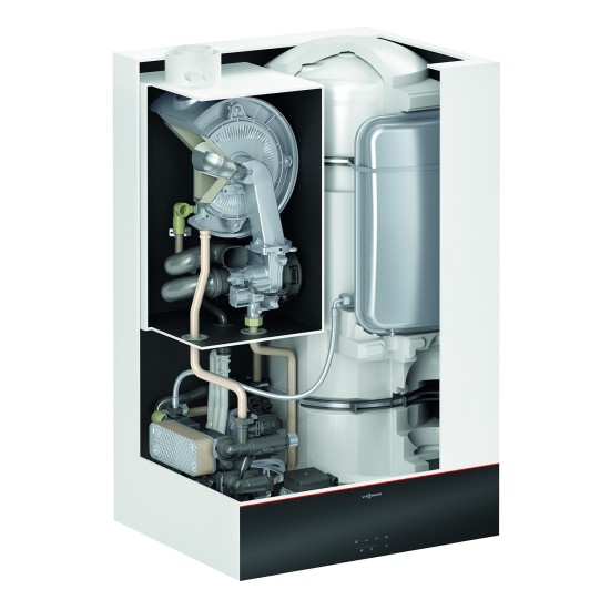 Gas condensing boiler Vitodens 111-W B1LF with built-in 46 l water tank, 25kW
